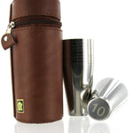 Stainless Steel Cups in Spanish Leather Case, 10pcsx10ml, Numbered 1-10