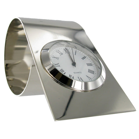 Nickel Plated Table clock 79x65 mm