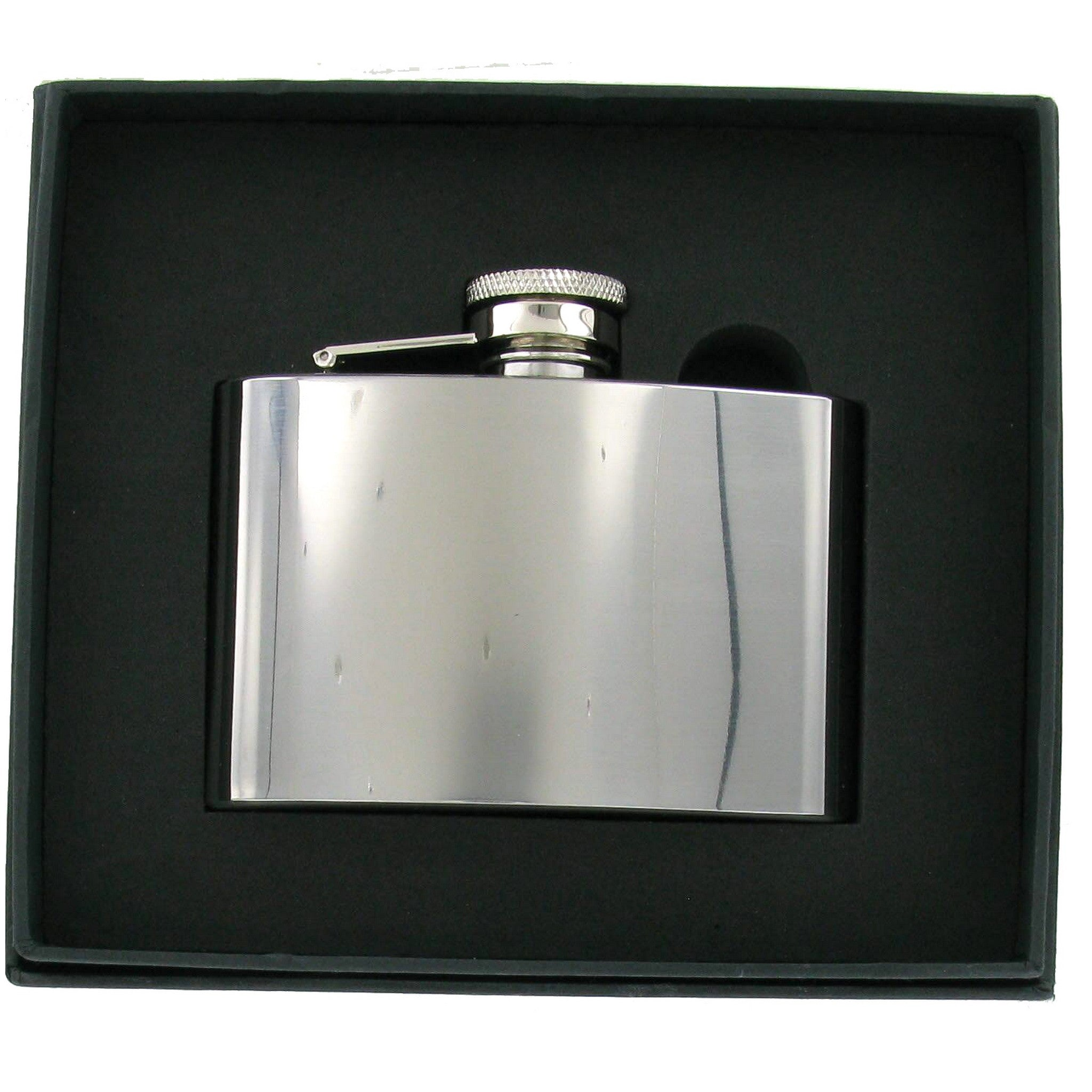 Stainless Steel High Polish 4oz Hip Flask