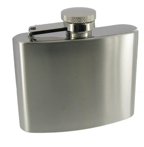 4oz High Polished Flask in White Stock Box