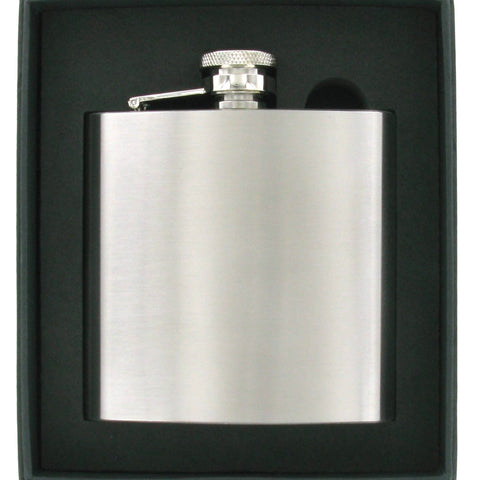 Stainless Steel Brushed Finish 6oz Hip Flask