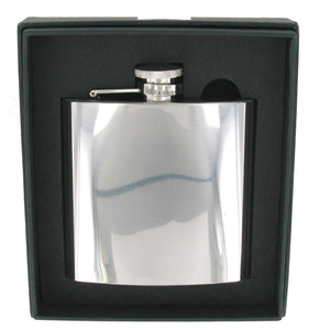 Stainless Steel High Polish 6oz Hip Flask