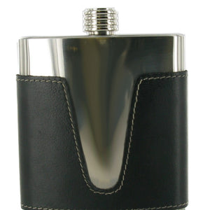 Italian Leather Covered Stainless Steel 6oz Hip Flask