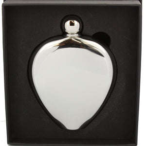 Stainless Steel Oval High Polish Hip Flask 6oz