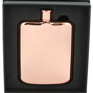 Stainless Steel Rose Gold Hip Flask 6oz For Her