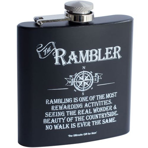 Matte Black 6 oz Captive Top Hip Flask Rambler