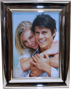 4x6 Silver Plated Photo Frame with Round Bevelled Edges