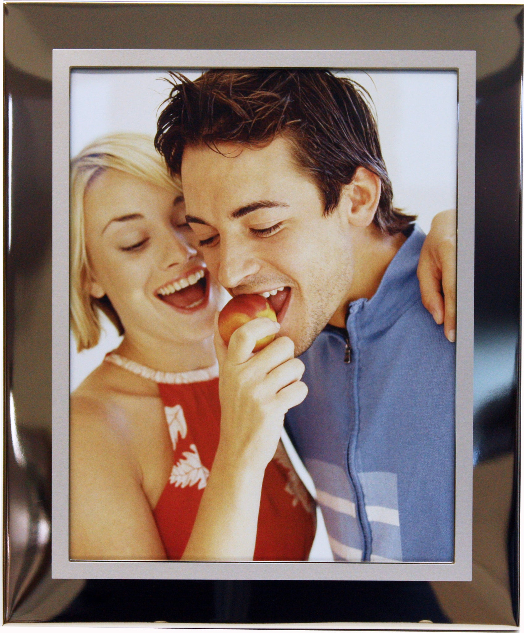 8x10 Nickel Plated Photo Frame with Inside Satin Finish