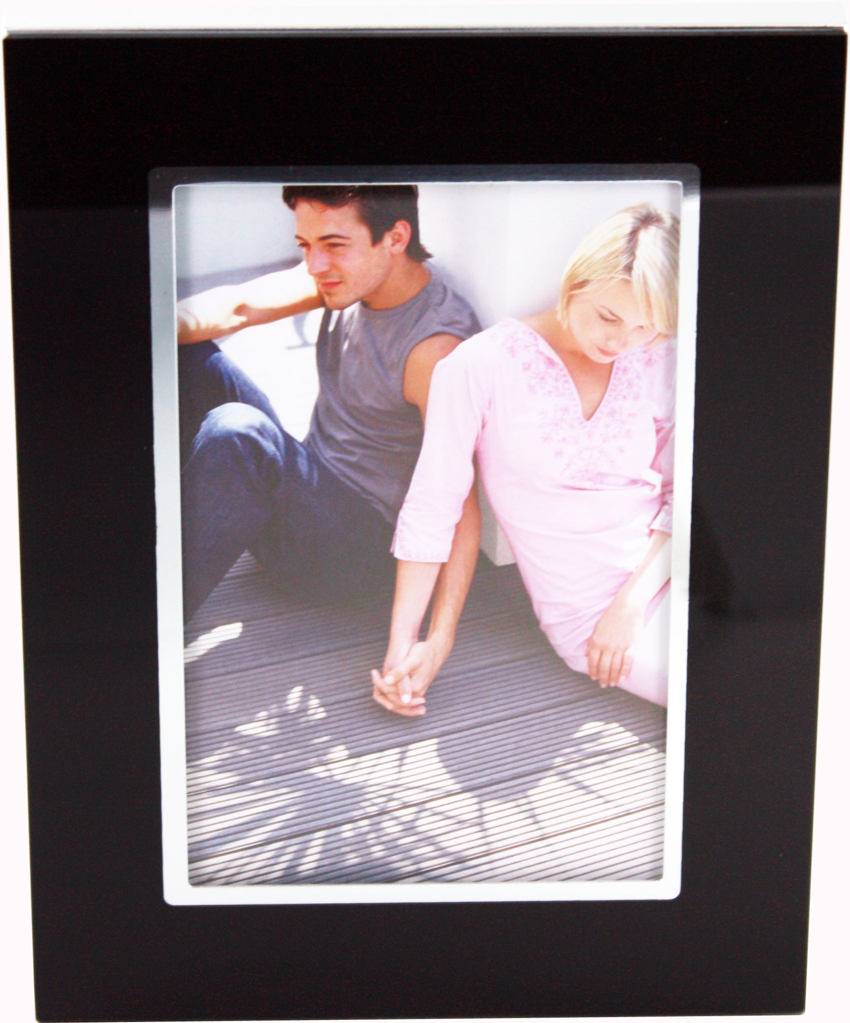 4x6 Black Aluminum and Glass Photo Frame