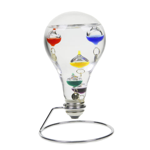 16 cm Light Bulb Shape Galileo Thermometer