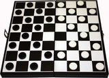 Backgammon and Chess Set in PU Carry Case