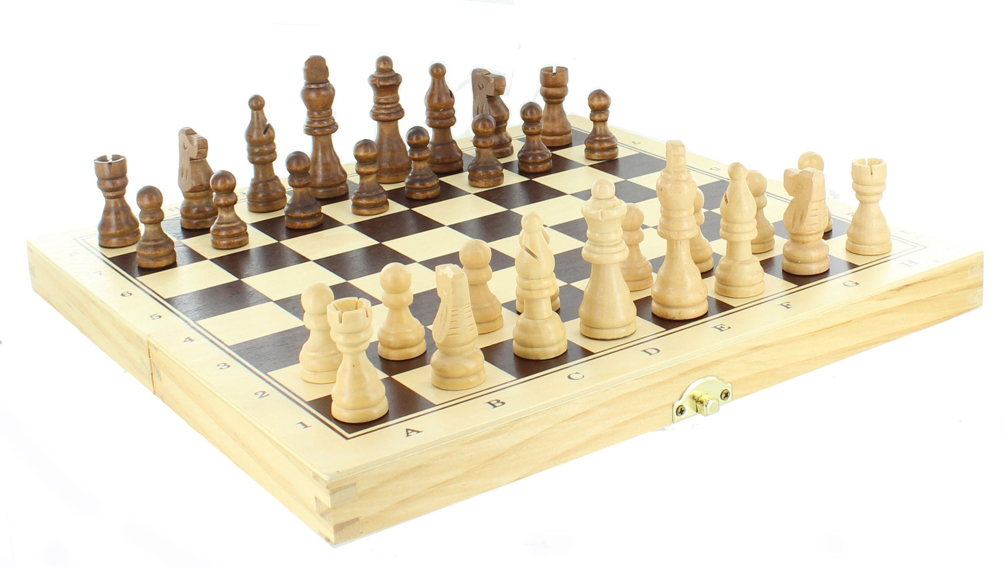 Wooden Chess, Backgammon & Checkers Game Set