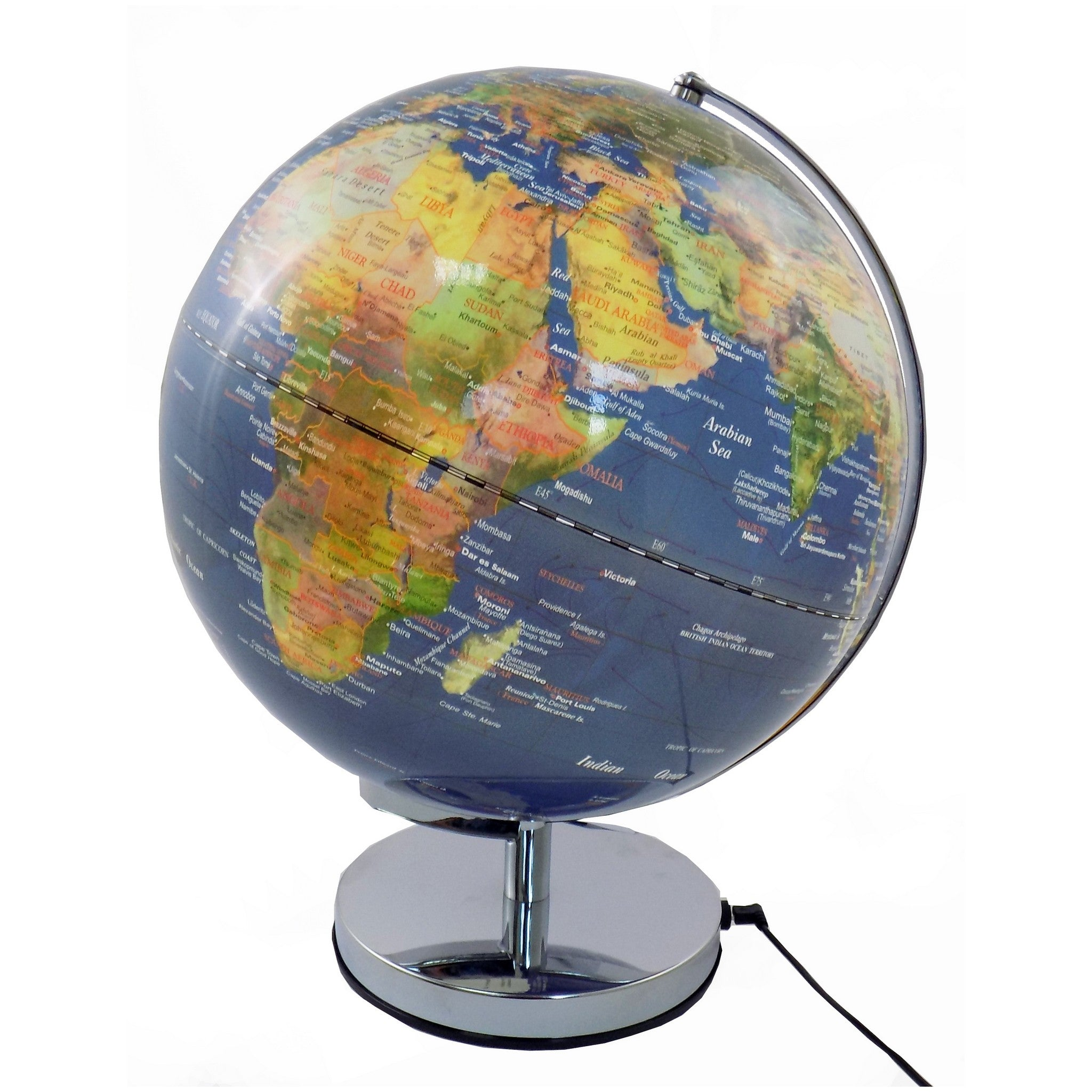 30 cm Colour Illuminated  World Globe