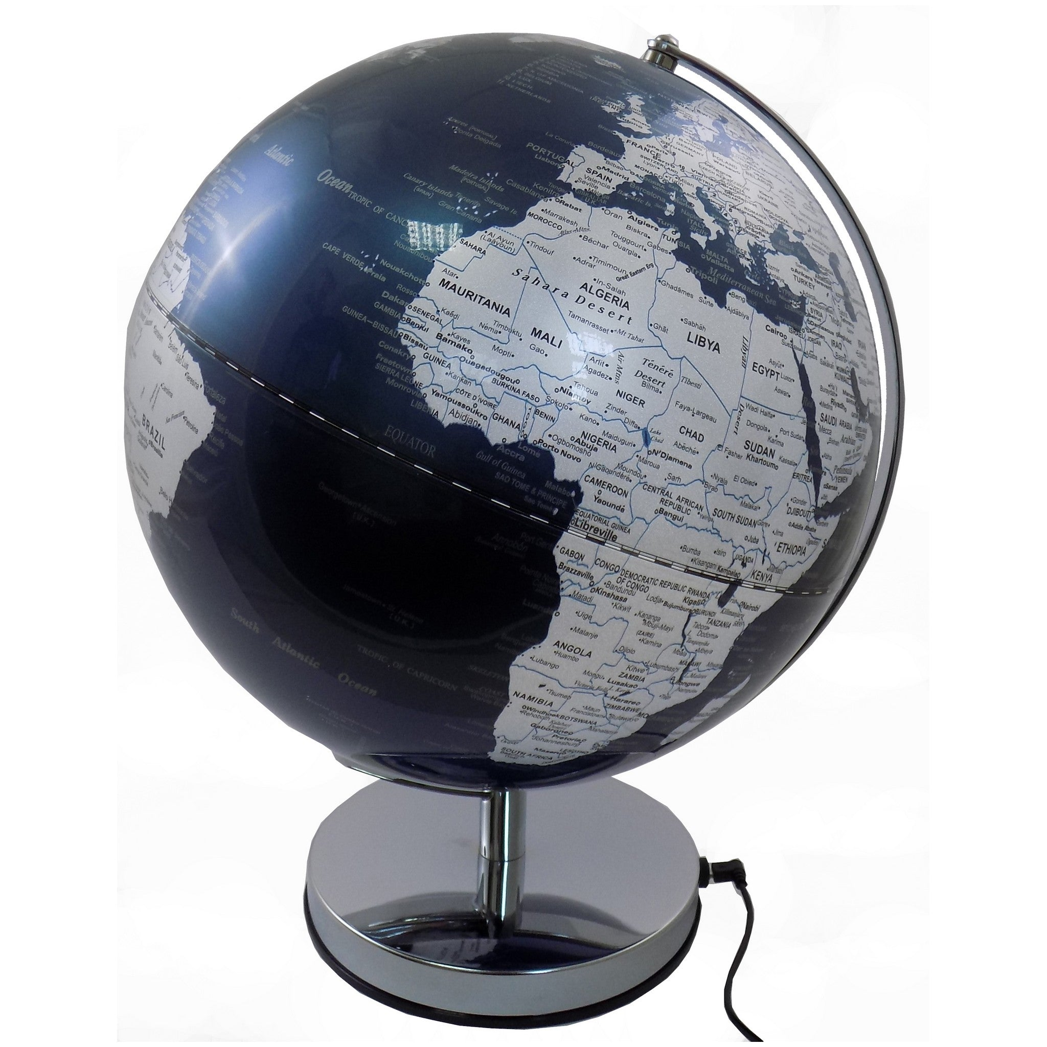 30 cm Blue Ocean Illuminated World Globe
