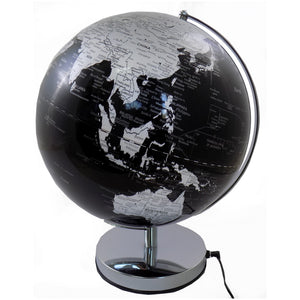 30 cm Black Ocean Illuminated World Globe