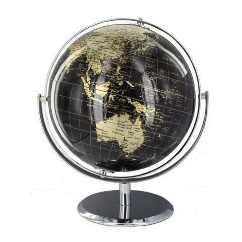 14 cm Gold and Black Children World Desk Globe
