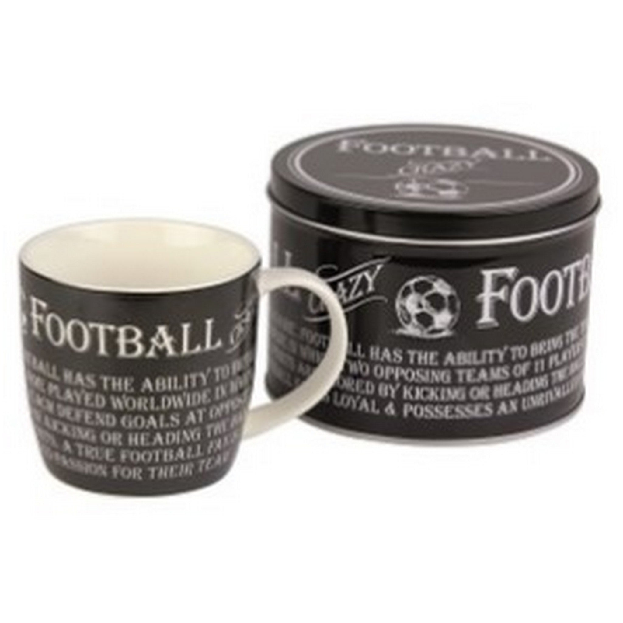 """The Football Crazy""  Mug in a Reusable Gift Tin"