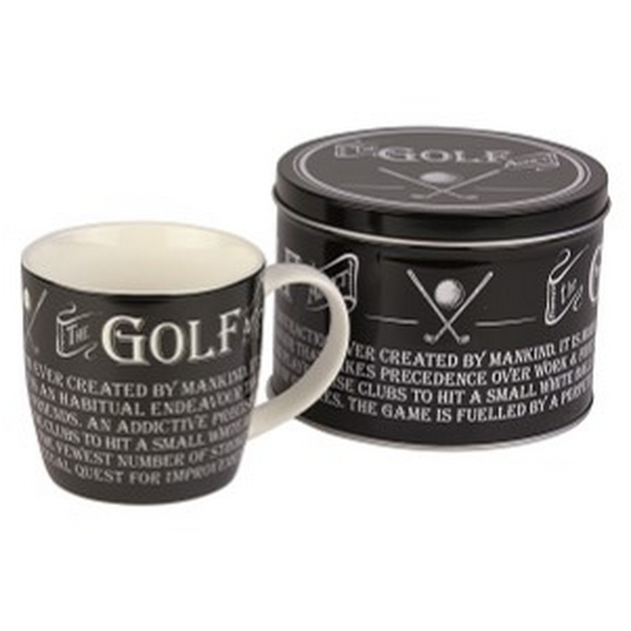 """The Golf Fanatic"" Mug in a Reusable Gift Tin"