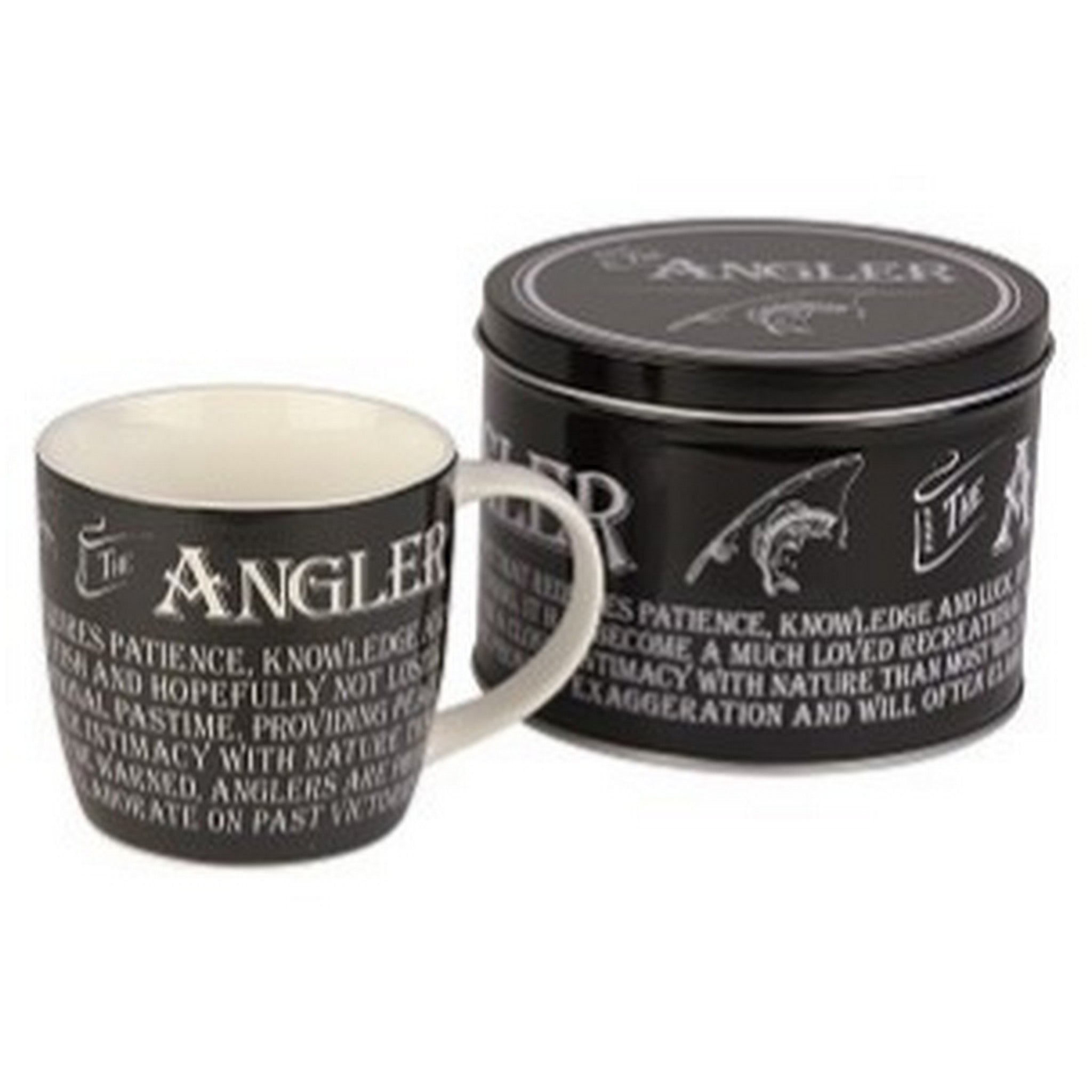 """The Angler"" Mug in a Reusable Gift Tin"
