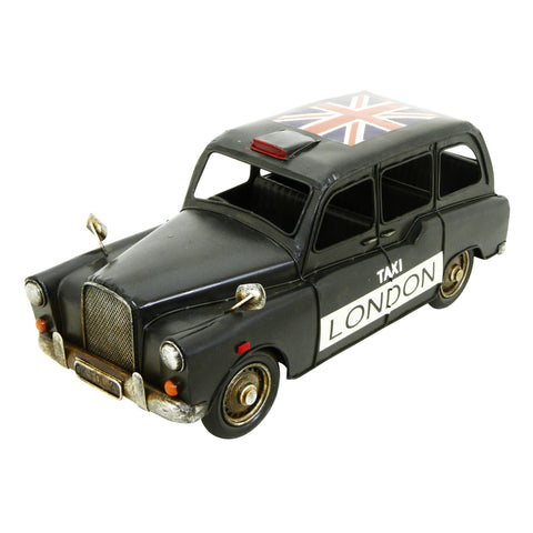 Black Taxi 30x12x12cm Metal Model