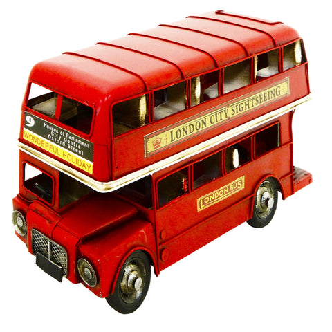 Double Decker Bus 31x20x12 cm Metal Model