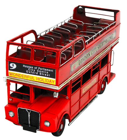 Open Top London Bus  32x22x12cm Metal Model