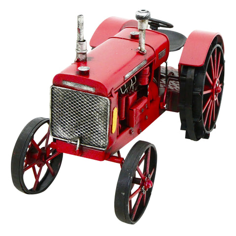 Red Tractor 28x18x15cm Metal Model