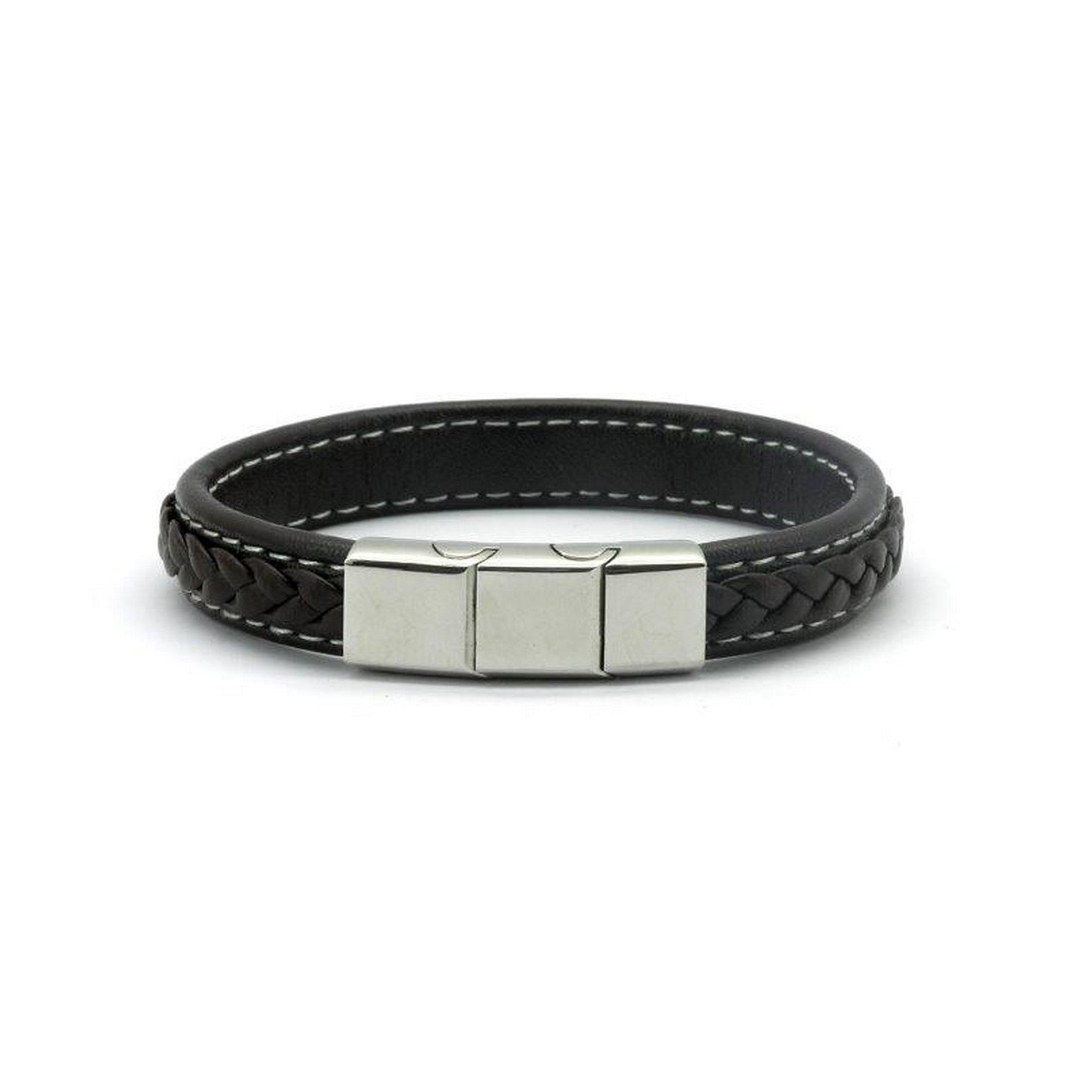 Magnetic Brown Leather Strap Health Bracelet, 2000 Gauss