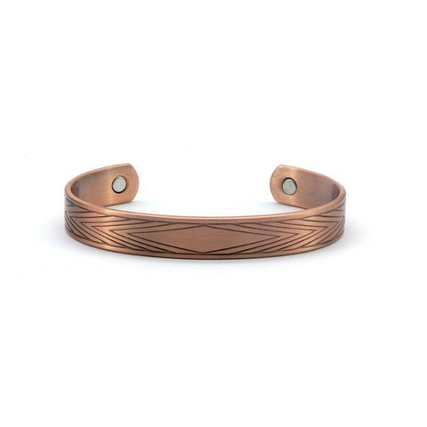 Magnetic Copper Matte Health Bangle, 1800 Gauss