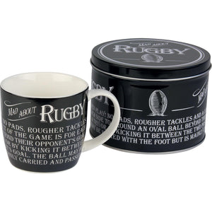 """Mad about Rugby"" Mug in a Reusable Gift Tin"