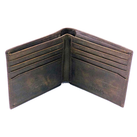 Spanish Leather Wallet with 8 Credit Card Cases