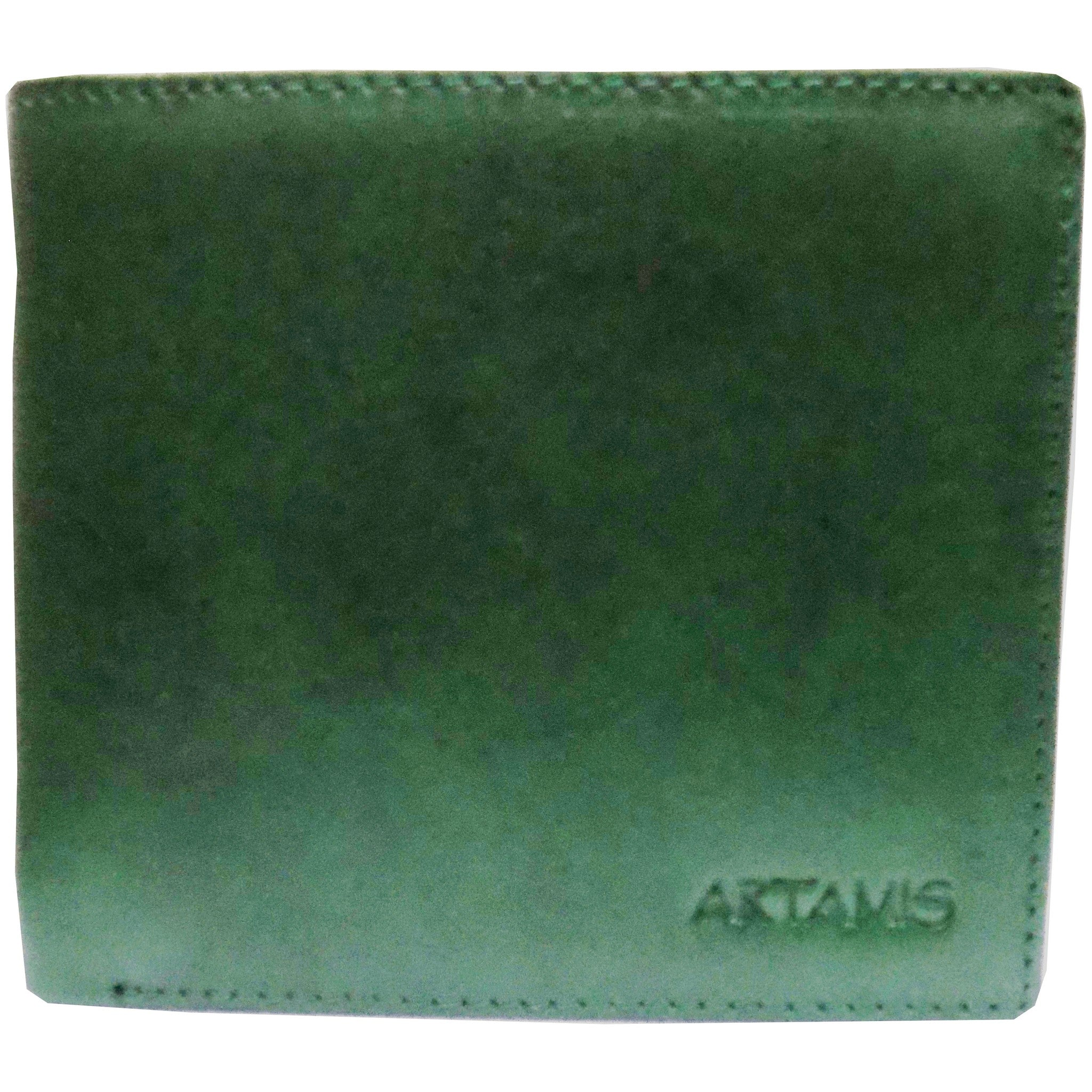 Green Italian Leather with 8 Credit Card Case