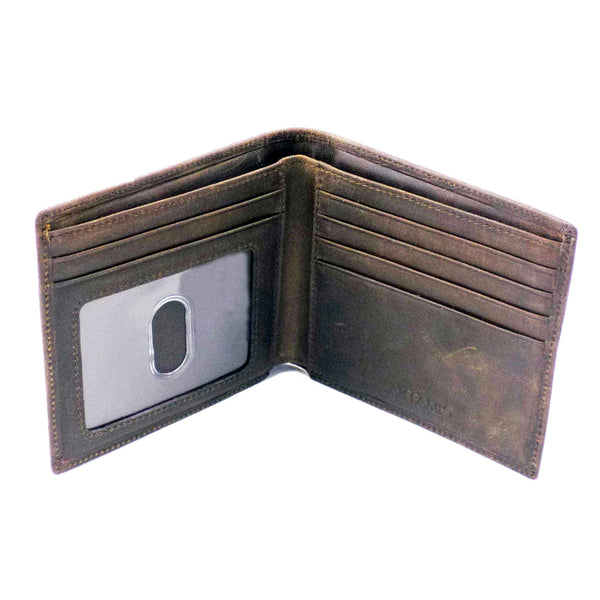 Spanish Leather Wallet with Credit Card Case & Pass Section