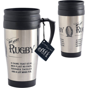 """Mad about Rugby"" Travel Mug"