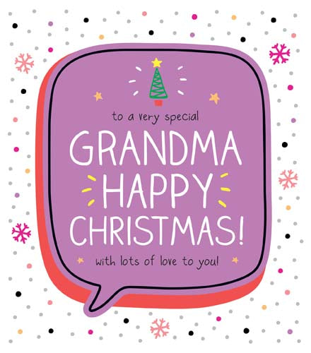 Happy Jackson Grandma Christmas Card