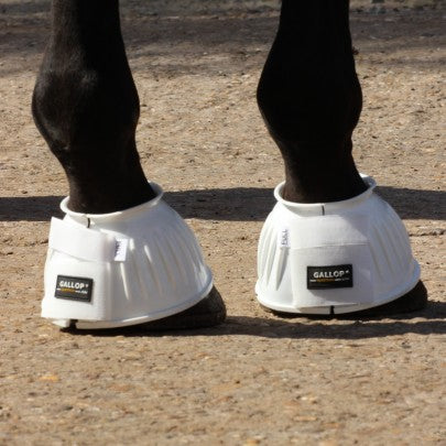Gallop Coloured Ribbed Over Reach Boots
