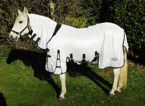 Rhinegold Elite Savanna Fly Rug-White