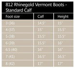 Clearance Rhinegold 'Elite' Standard Calf Vermont Leather Country Boots