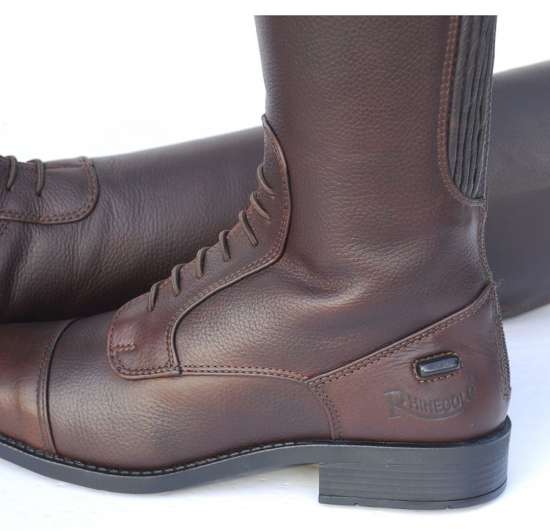 Clearance Rhinegold Elite Luxus Brown Leather Riding Boot