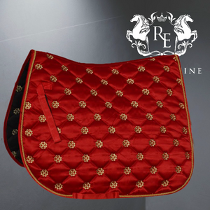 Rhinegold Lucky Clover Satin Saddle Pad