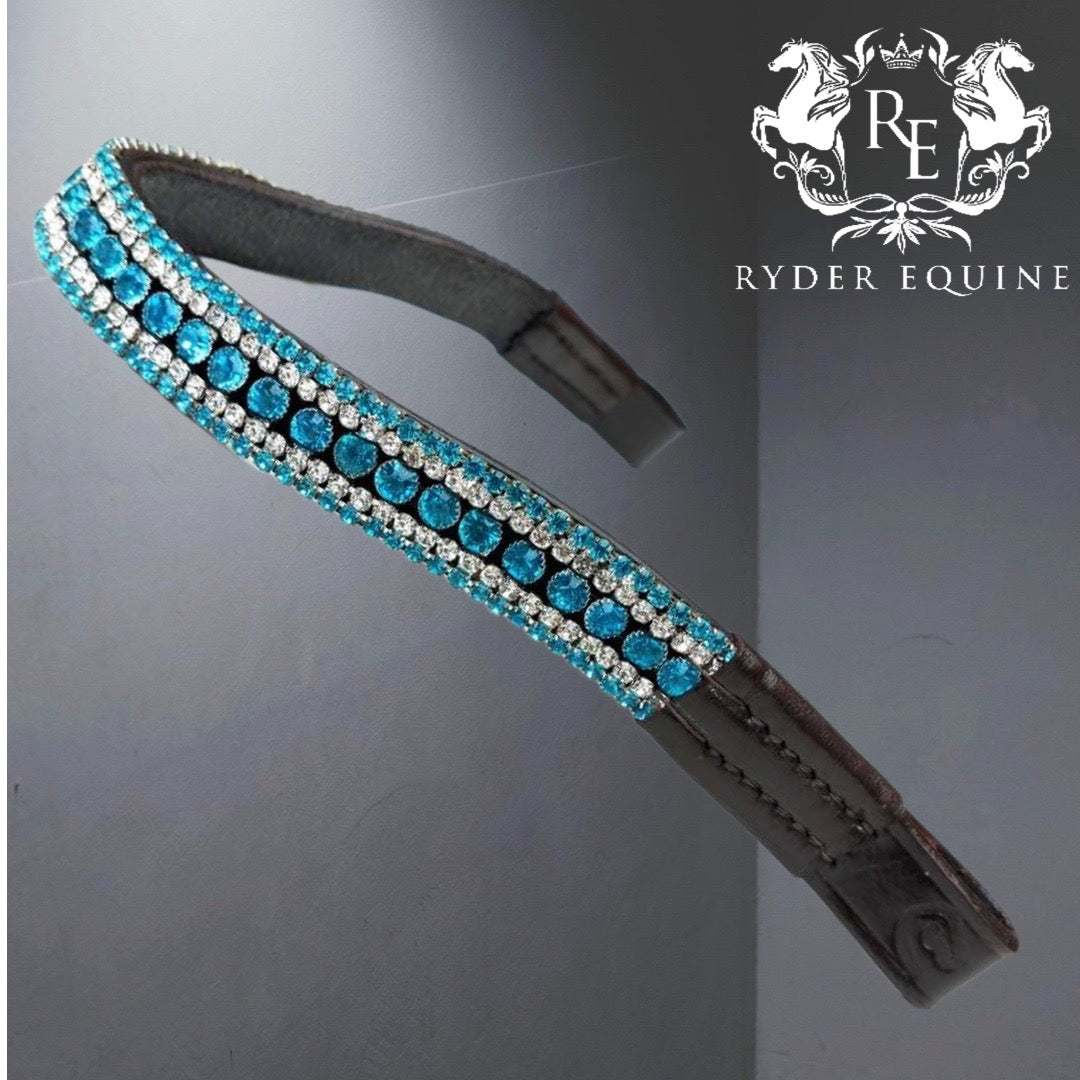 TURQUOISE CURVE SHAPE BROWBAND
