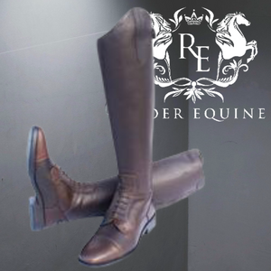 Rhinegold Elite Luxus Brown Leather Riding Boot