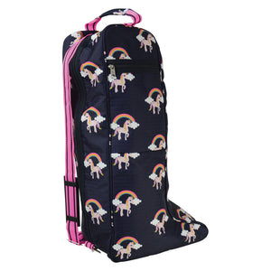Hy Unicorn Boot Bag - Navy/Pink