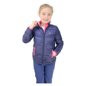 Annabelle Padded Jacket By Little Rider - Navy/Pink