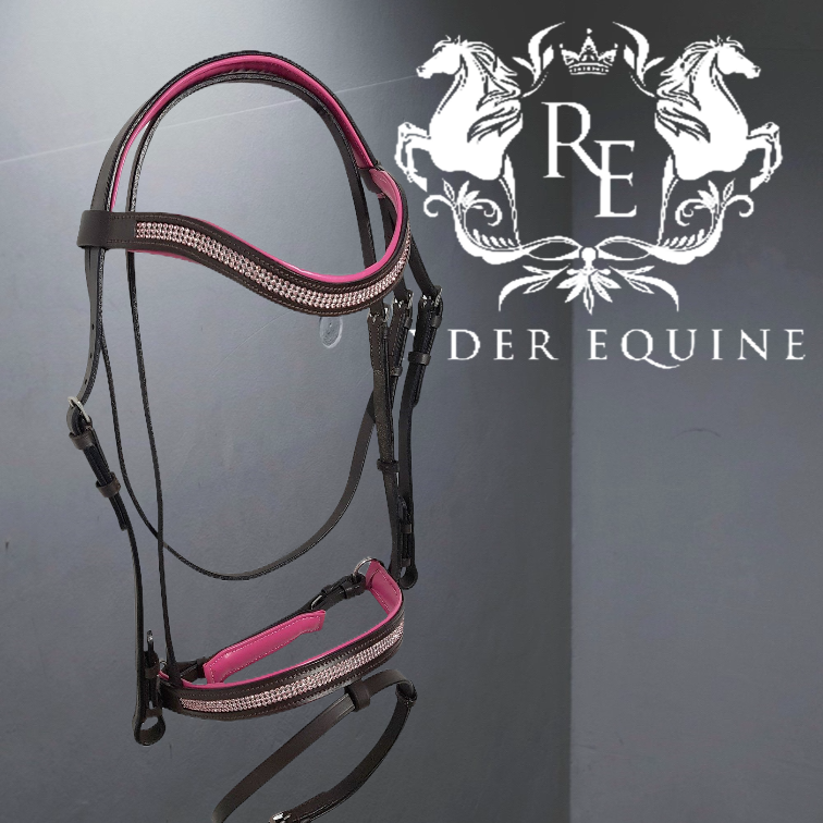 PINK PADDED COMFORT DIAMANTE BRIDLE