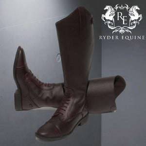 Rhinegold Wide Leg 'Luxus Extra' Brown Leather Riding Boot