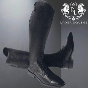 Rhinegold Elite Luxus Black Leather Riding Boot