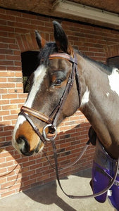 ORANGE PADDED COMFORT DIAMANTE BRIDLE