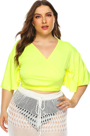 Plus Size Silk Casual Top