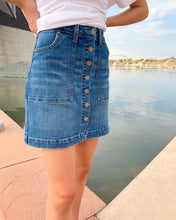 Load image into Gallery viewer, Leaves Are Falling Denim Skirt